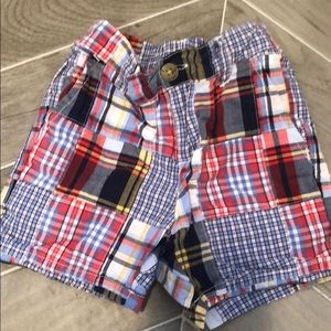Janie and Jack madras shorts. Size 12-18 mos